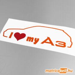 I love my Audi A3 matrica