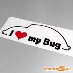 I love my Volkswagen Bug (bogár) matrica