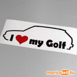 I love my Volkswagen Golf 2 matrica