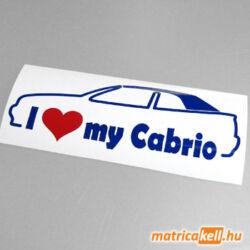 I love my Volkswagen Golf 3 cabrio matrica