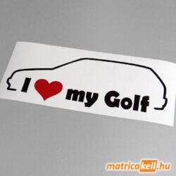 I love my Volkswagen Golf 3 matrica