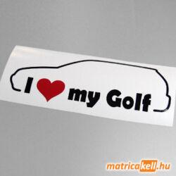 I love my Volkswagen Golf 4 matrica