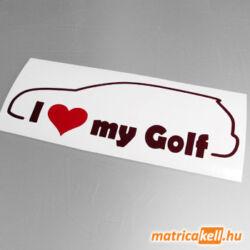I love my Volkswagen Golf 6 matrica