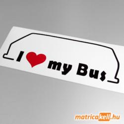 I love my Volkswagen Transporter T3 bus matrica