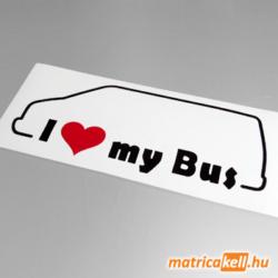 I love my Volkswagen Transporter T4 bus matrica
