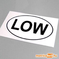 LOW felségjelzés matrica