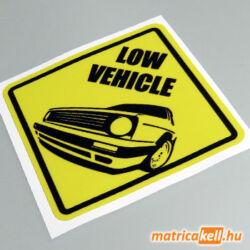 Low vehicle Volkswagen Golf 2 matrica
