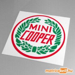 Mini Cooper matrica babérkoszorúval (színes)