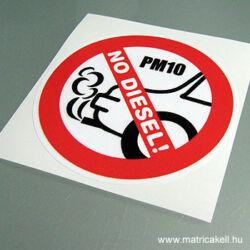 No Diesel! matrica