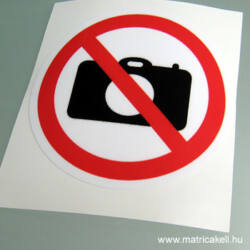 No Foto! matrica