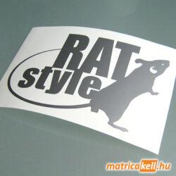RAT style patkányos matrica