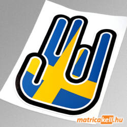 Shocker matrica Svéd zászlóval