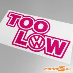 Too low VW matrica