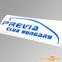 Toyota Previa Club Hungary matrica (logo)