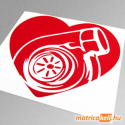 Turbo szív matrica
