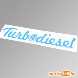 Turbodiesel felirat matrica