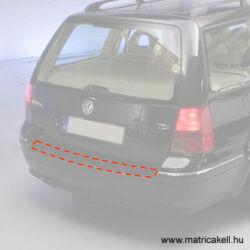 Volkswagen Golf IV / Bora kombi hátsó lökhárító védőfólia