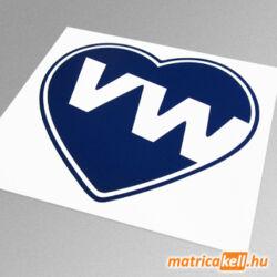 VW szív matrica v2