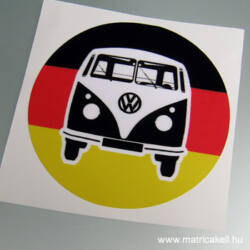 VW T1 Transporter Busz trikolor matrica