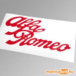 Alfa Romeo retro felirat matrica