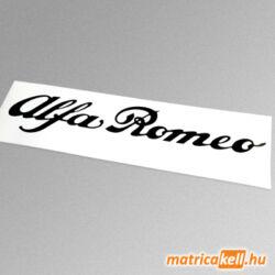 Alfa Romeo felirat matrica