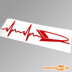 Daihatsu szívdobbanás matrica (pulzus, ekg)