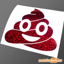 Kaki emoji hangulatjel hologramos matrica