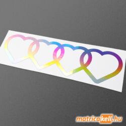 Audi logo 4 szív hologramos matrica