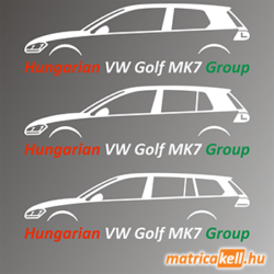 Hungarian VW Golf MK7 Group matrica