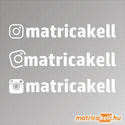 egyedi saját instagram név matrica