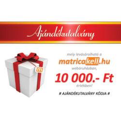 Ajándékutalvány 10000.- Ft
