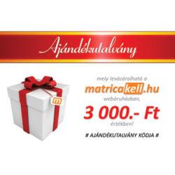Ajándékutalvány 3000.- Ft