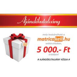 Ajándékutalvány 5000.- Ft