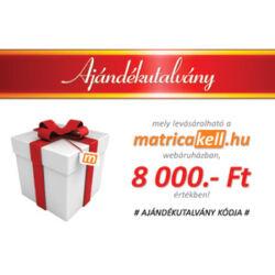 Ajándékutalvány 8000.- Ft
