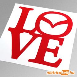 Mazda love matrica (új emblémával)