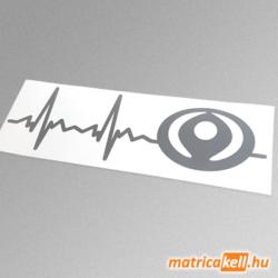 Mazda szívdobbanás matrica (régi emblémával)