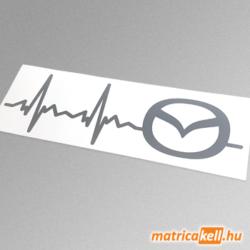 Mazda szívdobbanás matrica (új emblémával)