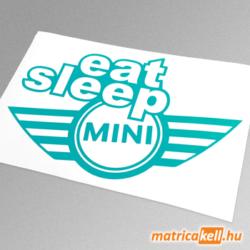 eat sleep MINI matrica