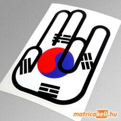 Shocker matrica Koreai zászlóval