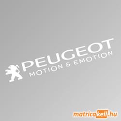 Peugeot szélvédőmatrica (Motion and Emotion)
