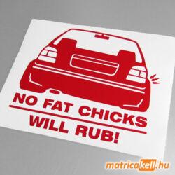 Volkswagen Golf 3 No fat Chicks matrica